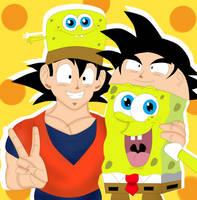 SpongeBob and Goku Hat Fun by CristianDarkraDx2496