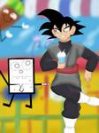 Goku Black and DoodleBob Reunion