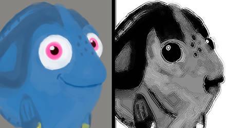 Dory's Mr Incredible's face meme version