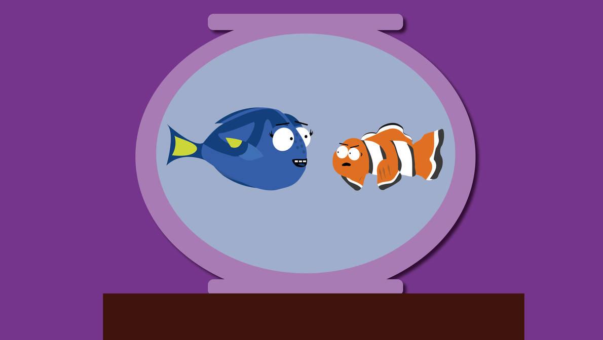 Marlin and Dory X South Park