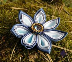 Blue Kanzashi by MelanieTheDragon