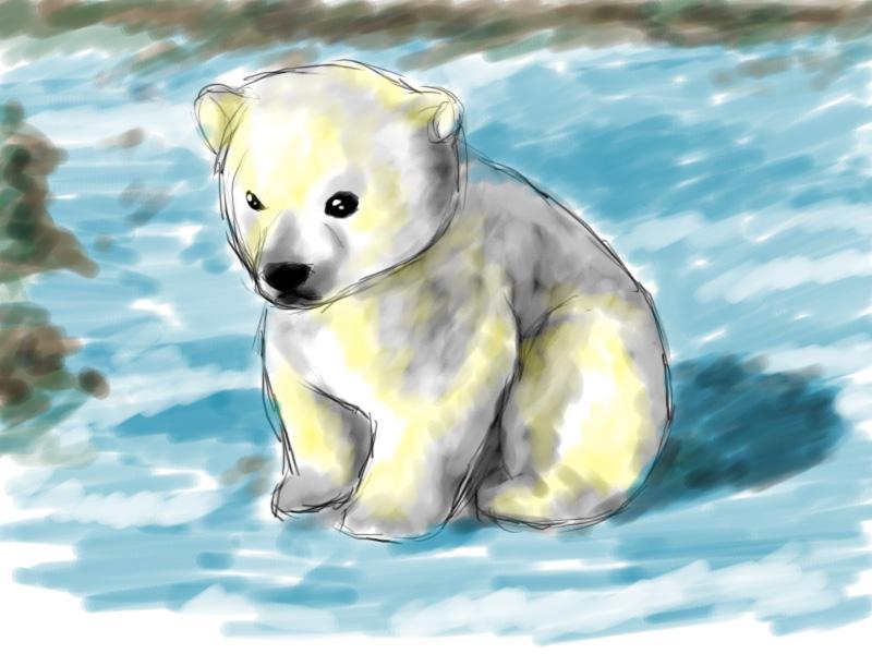 cute cartoon polar bear cubs