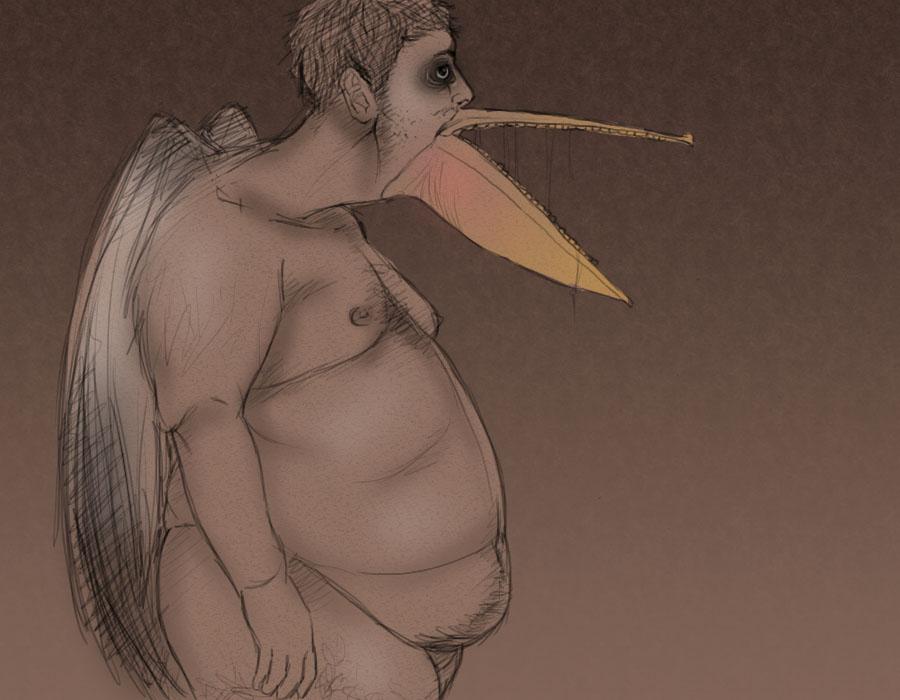 Pelican Man by EmiiriOrochi