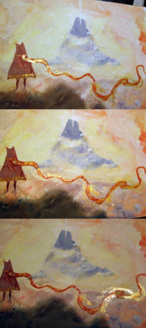 journey (game) - gold nail polish + gouache by arumise on DeviantArt