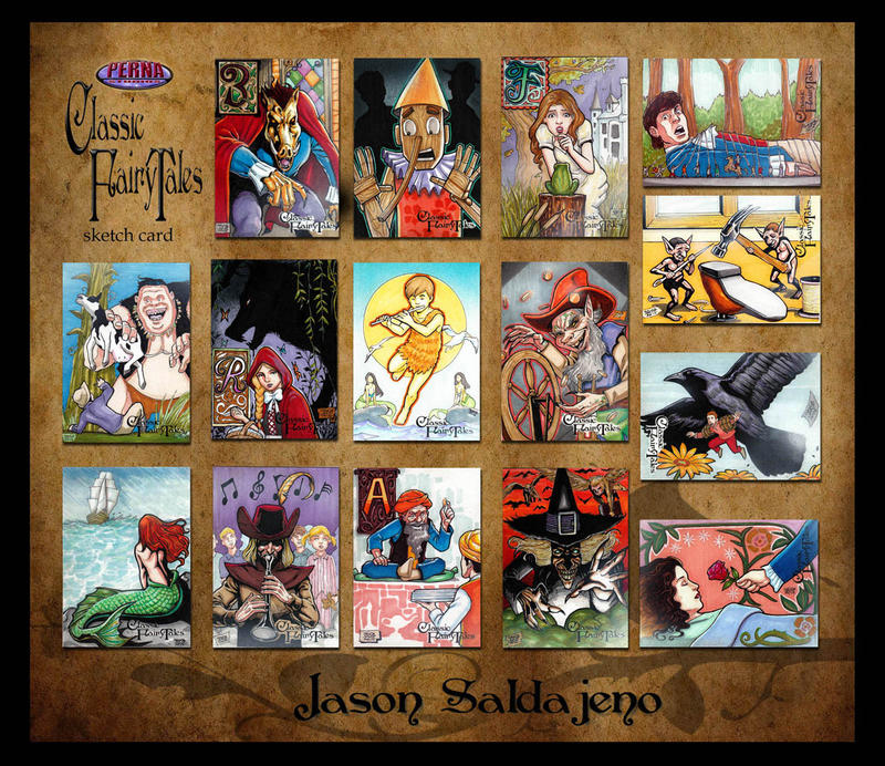 Compiled Classic Fairy Tales Sketch Cards by JASONS21 on DeviantArt