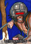 Marvel Beginnings - WEAPON X sketch card by JASONS21