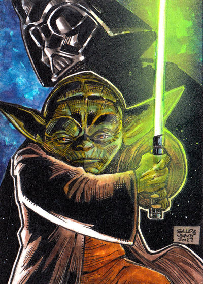 Yoda and Darth vader PSC by JASONS21