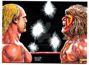 Hulk Hogan VS Ultimate Warrior by JASONS21