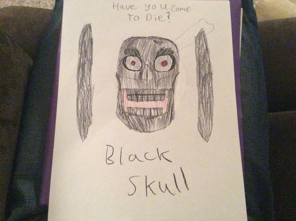 Black skull by CBwolf97