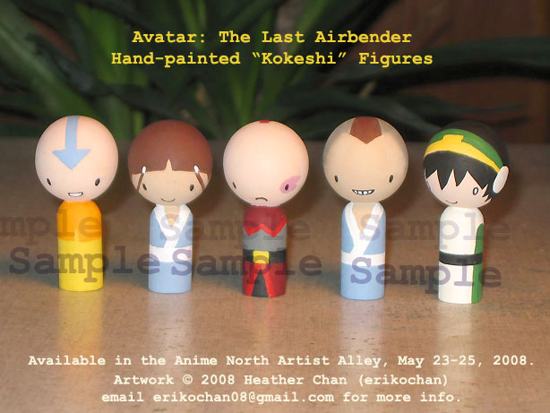 Avatar 'Kokeshi' dolls by amigurumi