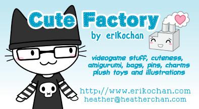 erikochan.com business card by amigurumi