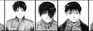5 faces.Roy Mustang's 5 faces