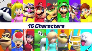 Mario Golf - Super Rush! All Characters