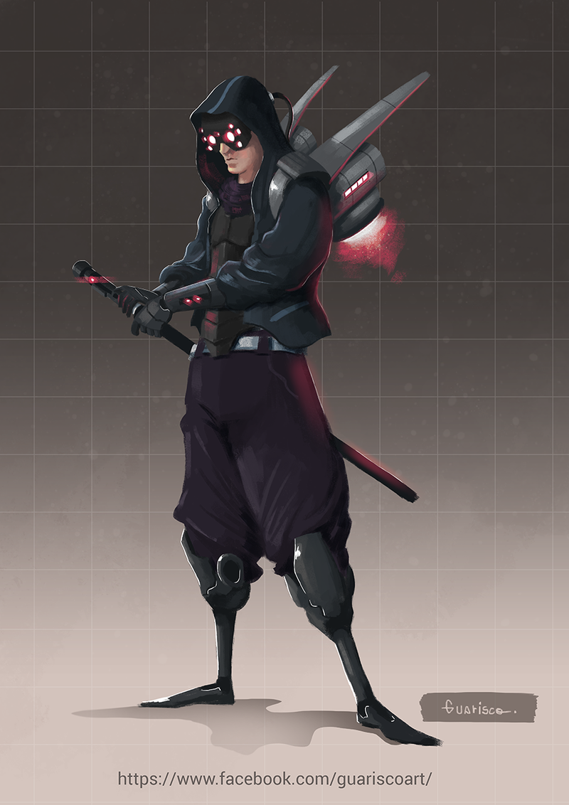 cyberpunk samurai by erikguarisco on deviantart