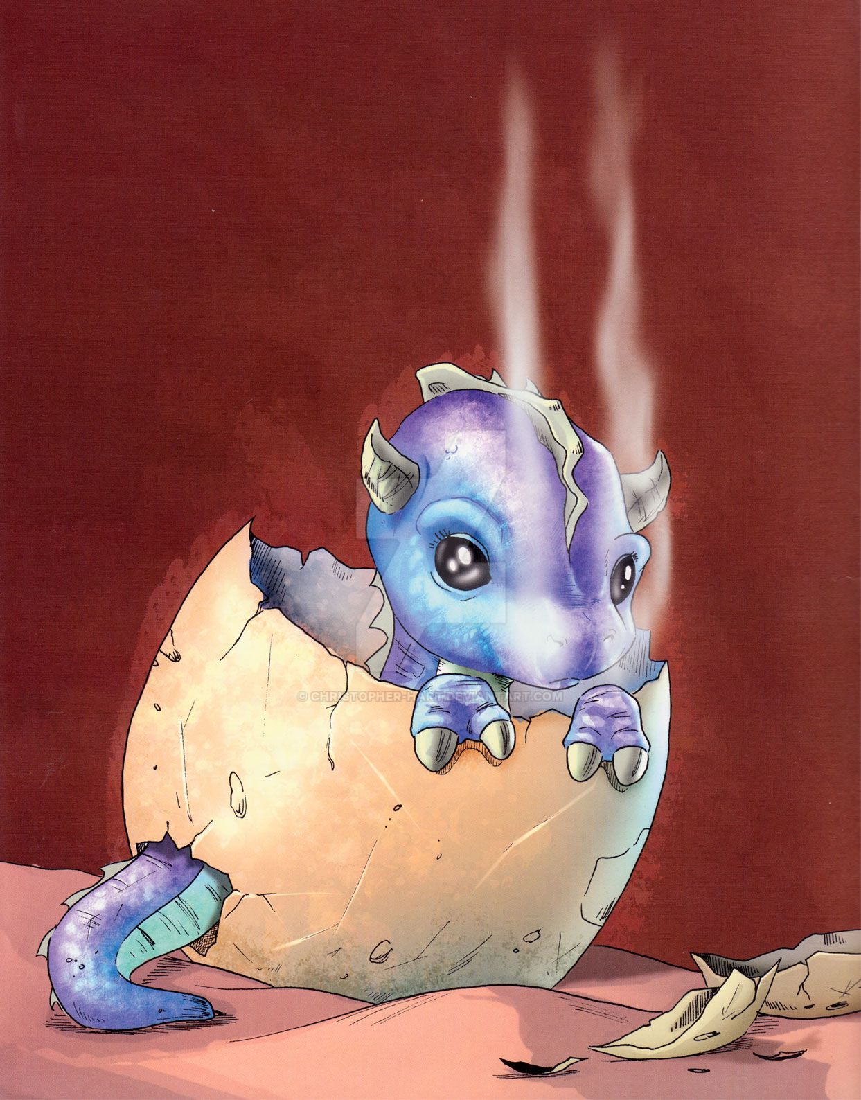 Please Don't Feed the Baby Dragon by Christopher-Hart