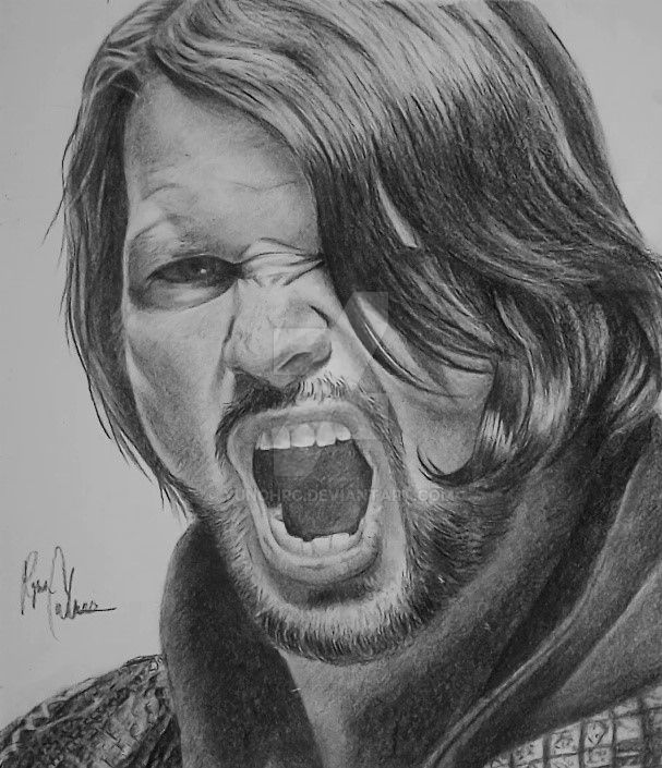 Wwe the phenomenal one aj styles by yunohrc on deviantart for Aj styles coloring pages