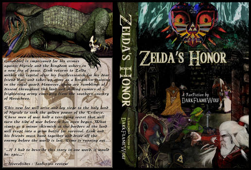 Zelda's Honor Complete Book Cover and Spine Art