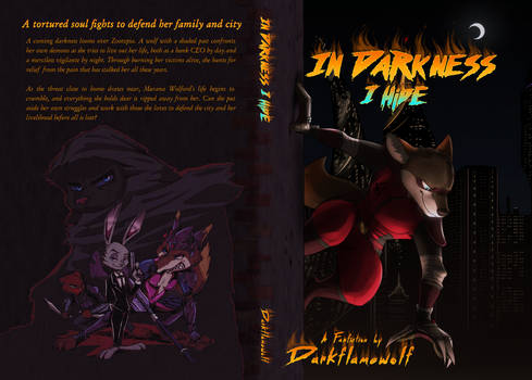 In Darkness I Hide Complete Book Cover w Spine Art