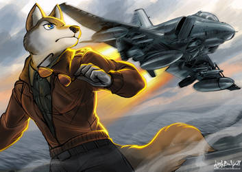 Aim High - By LittleBadWolf by Darkflame-wolf