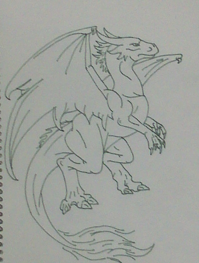 Basic Lines In Art : Basic line dragon by rebelinabox on deviantart