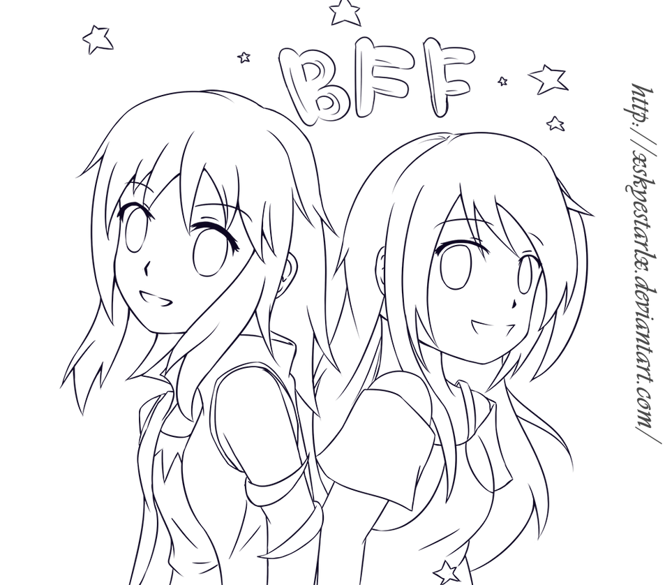bff pictures coloring pages - photo #28