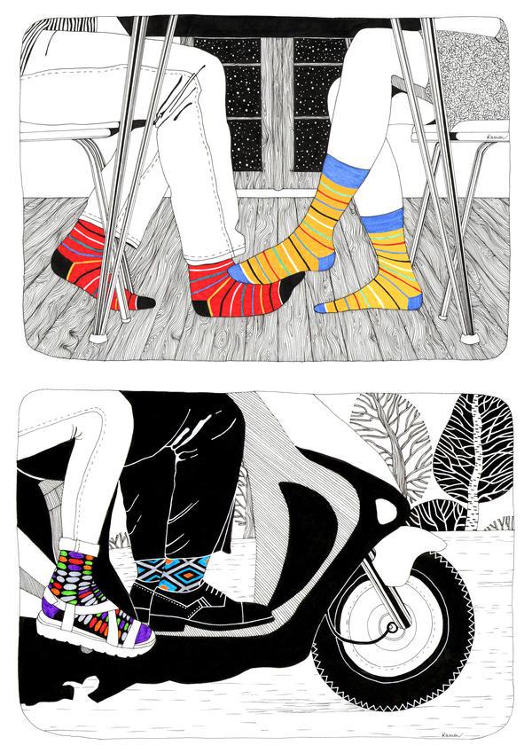 Socks Affection by KammFlower