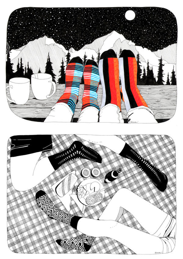 Socks Affection 2.0 by KammFlower