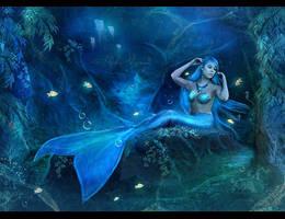 Blue Mermaid by Aloha-Mermaid