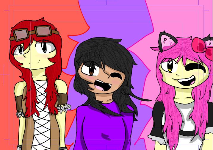 Nicole, Aphmau, and Kawaii-Chan by Sup3rCooki3Ninja on ...