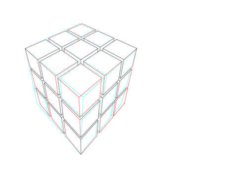 Anaglyph Cubes