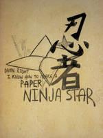 Paper Ninja Star by NewWorldPunk