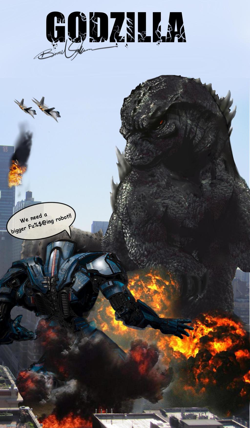 Godzilla Poster 2014 Comic by BirmeliniGodzilla 2014 Poster Comic Con