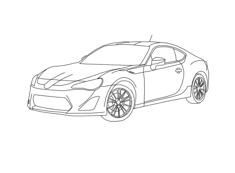 Drawing Lines R : Scion fr s lineart by sexyboy on deviantart