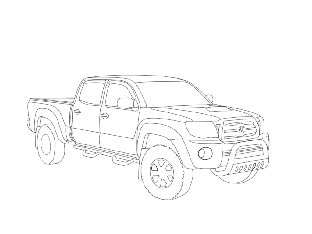 mobile  coloring toyota hilux coloring pages
