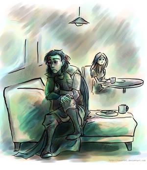 Loki -- 'Fallen Star' Fanart -- EAT UR TOAST SILLY