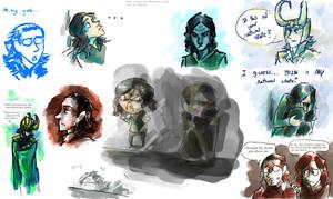 Loki sketch attack by Tavoriel