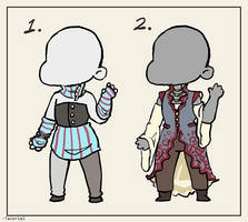 [1/2 OPEN] Outfit Adopts, Flatsale