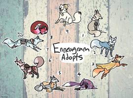 [9/9 OPEN] Enneagram Foxes, $15 each