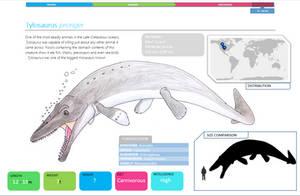 Tylosaurus fact sheet by Qianzhousaurus