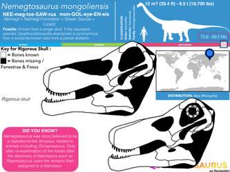 Nemegtosaurus mongoliensis skull skeletal by Qianzhousaurus