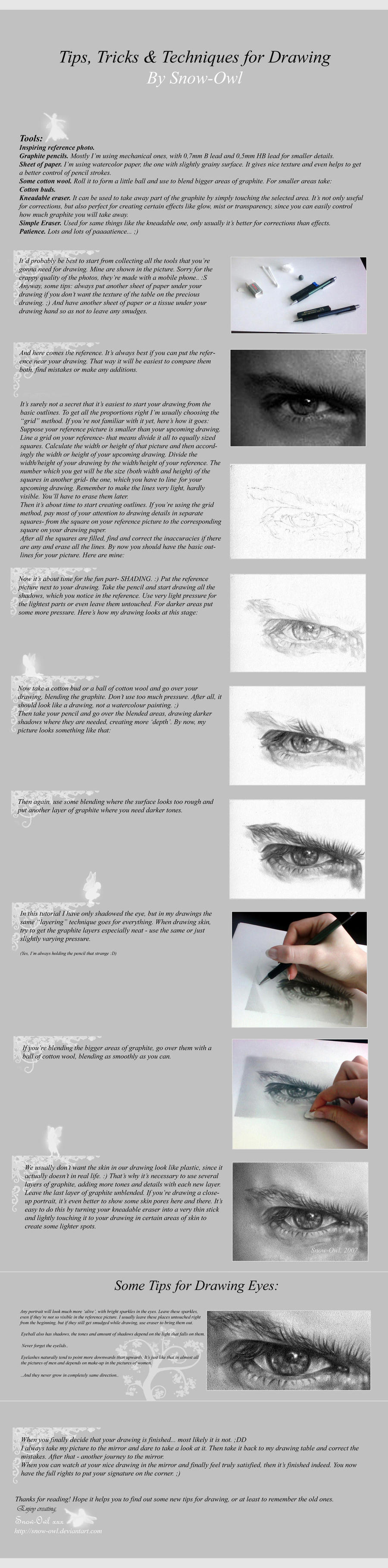 ..Drawing Tutorial.. by Snow-Owl