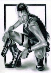 Angelina Jolie as Lara Croft by Snow-Owl