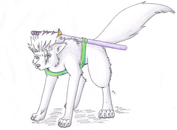 Toshiro Hitsugaya Wolf Trade by cutetoboewolf