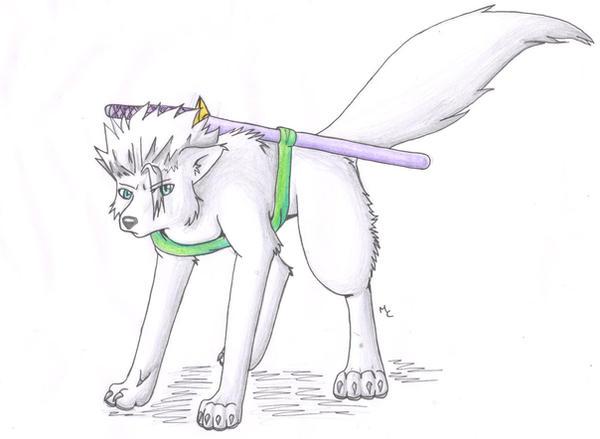 Toshiro Hitsugaya Wolf Trade by cutetoboewolf