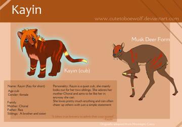 Kayin Ref. by cutetoboewolf