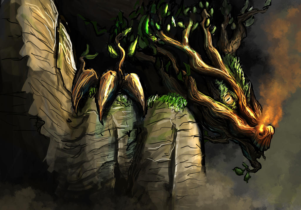 the forest dragon by bjenssen
