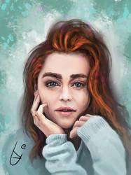 Emilia Clarke (sort of) by bjenssen
