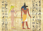 Temple Art: Buffy And Anubis by darknessofanubis