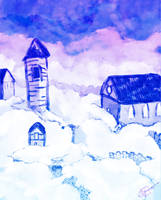 Cloud town painting by txwatson