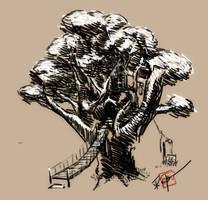 Treehouse sketch by txwatson